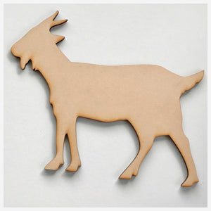 Goat MDF DIY Raw Cut Out Art Craft Decor Other Home Décor The Renmy Store