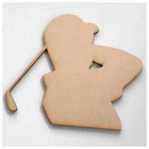 Golfer MDF DIY Raw Cut Out Art Craft Decor Other Home Décor The Renmy Store