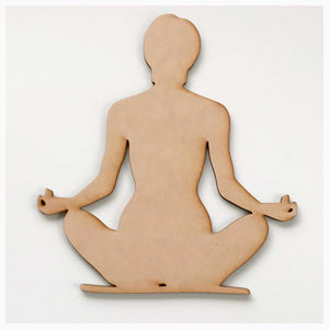 Meditate Hands Down MDF DIY Raw Cut Out Art Craft Decor Other Home Décor The Renmy Store