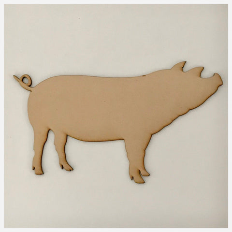 Pig MDF Shape DIY Raw Cut Out Art Craft Decor - The Renmy Store