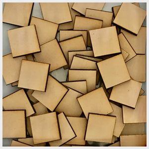 MDF Square 77pcs War Game DIY Raw Cut Out Art Laser Craft Decor 3mm 25mm x 25mm Other Home Décor The Renmy Store