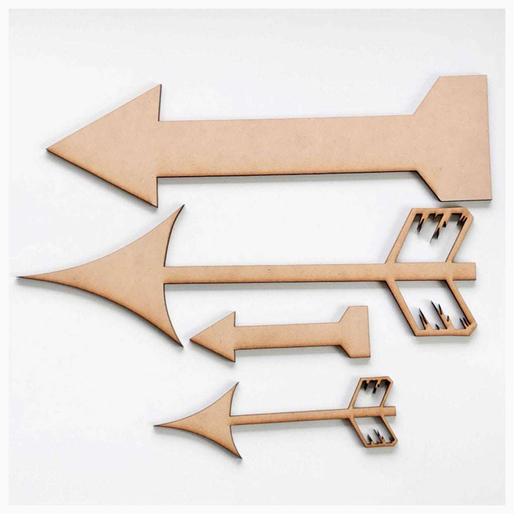 Arrow Set of 4 MDF DIY Raw Cut Out Art Craft Decor - The Renmy Store