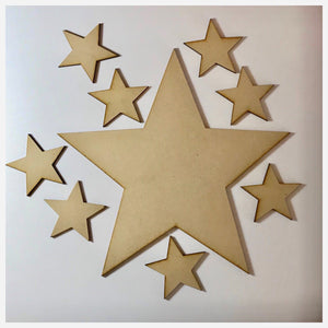 Star Stars Raw MDF DIY Craft - The Renmy Store