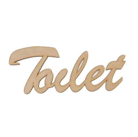 Toilet Word Sign MDF DIY Wooden | The Renmy Store