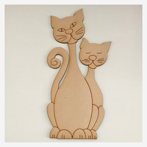 Two Cats Cat DIY Raw MDF Timber