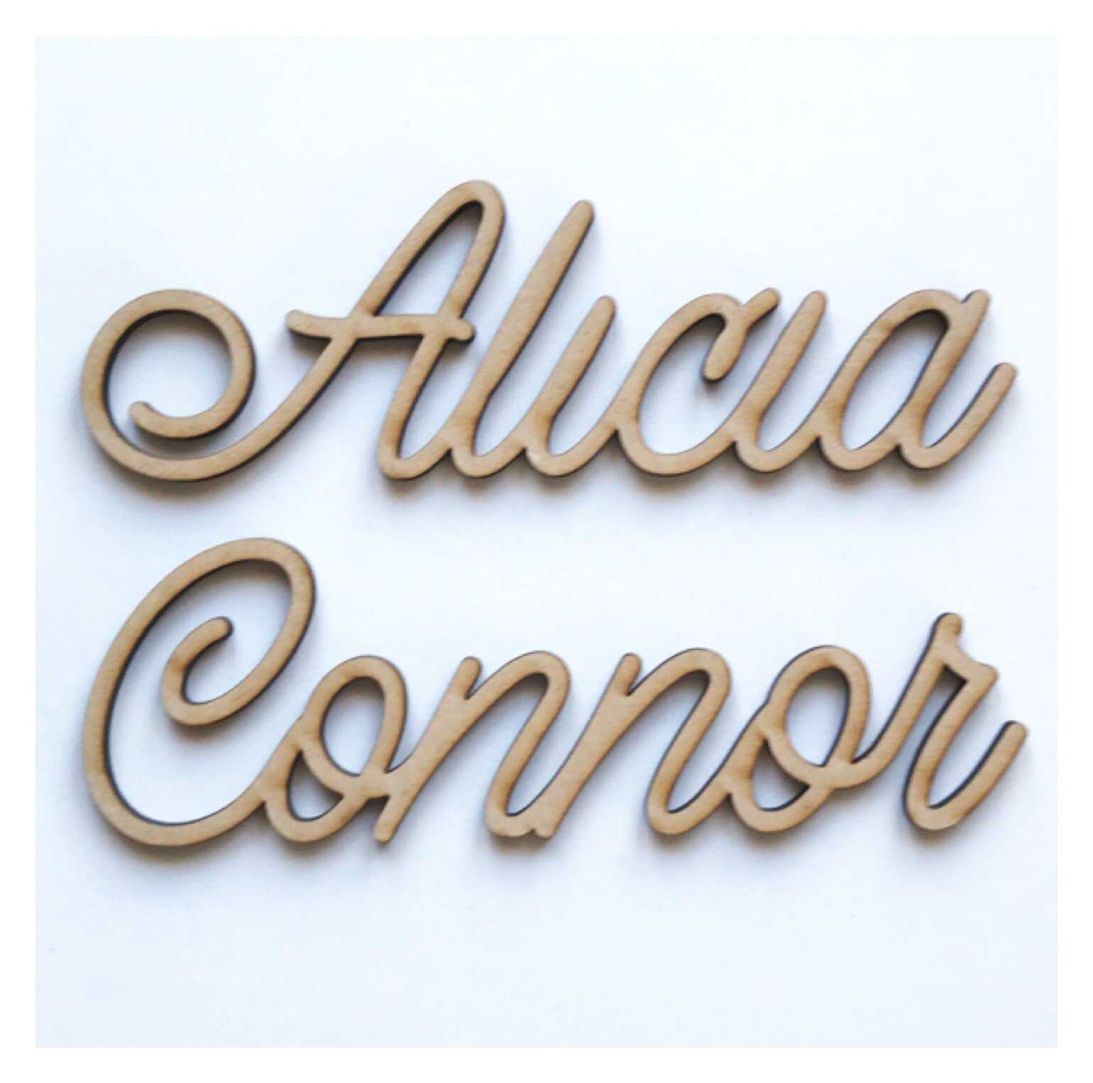 Name Personalised DIY Raw MDF Timber