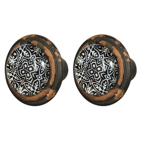 Knob DIY Set of 2 Black Dias
