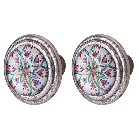 Knob DIY Set of 2 Floral Crux