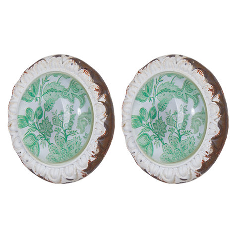 Knob DIY Set of 2 Green Floral Lime