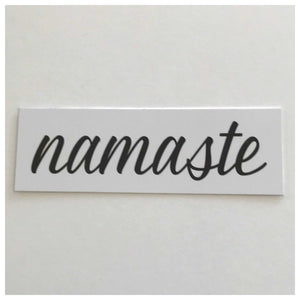 Namaste White Sign Wall Plaque or Hanging Plaques & Signs The Renmy Store