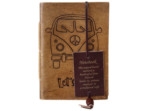 Leather Journal Diary Note Book Kombi Travel - The Renmy Store