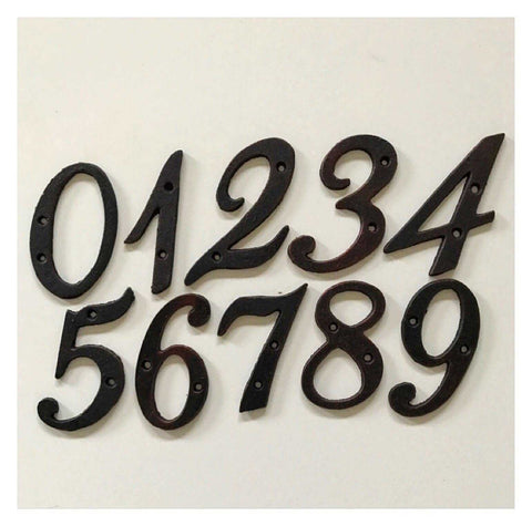 Number Small Cast Iron Metal Rustic Numbers House Fence Letterbox | The Renmy Store