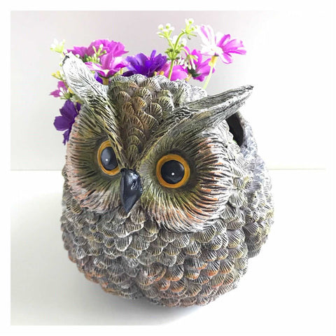 Owl Pot Planter Ornament - The Renmy Store