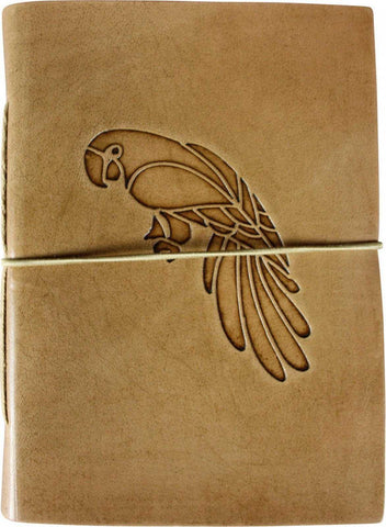 Leather Journal Diary Note Book Parrot Bird