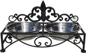 Pet Bowl Dog or Cat Cast Iron Vintage - The Renmy Store
