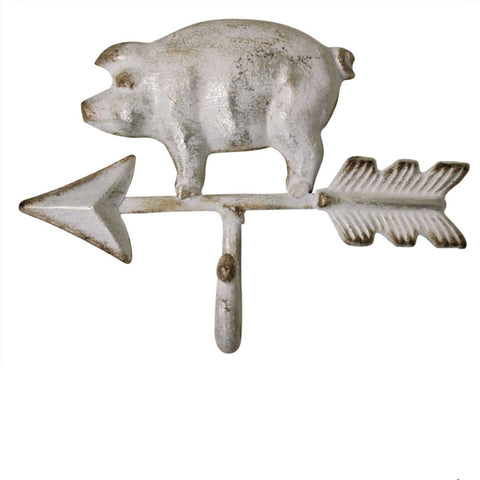 Hook Pig White with Arrow - The Renmy Store