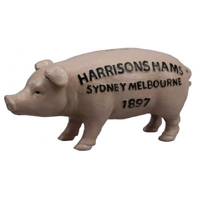 Piggy Bank Pig Harrison Hams Rustic Money Box - The Renmy Store