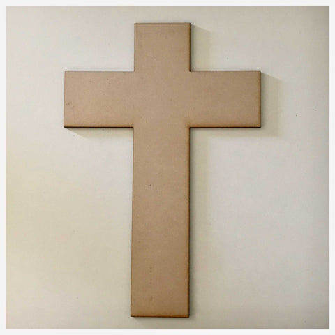 Cross Plain Modern MDF Shape DIY Raw Cut Out Art Religious Craft Decor - The Renmy Store