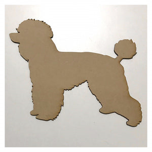 Poodle Dog DIY Raw MDF Timber - The Renmy Store