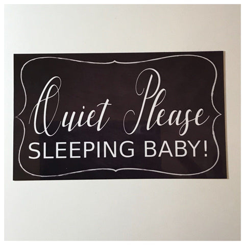 Quiet Please Sleeping Baby Sign Wall Plaque or Hanging - The Renmy Store