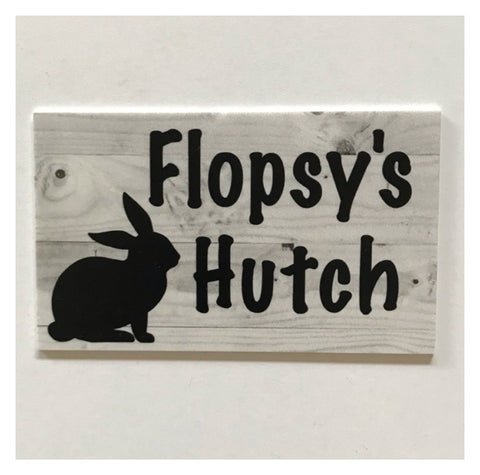 Rabbit Hutch House Pets Name Custom Wording Sign | The Renmy Store