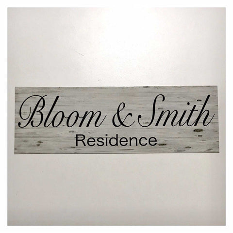 Custom Personalised Family Name Residence Home Sign