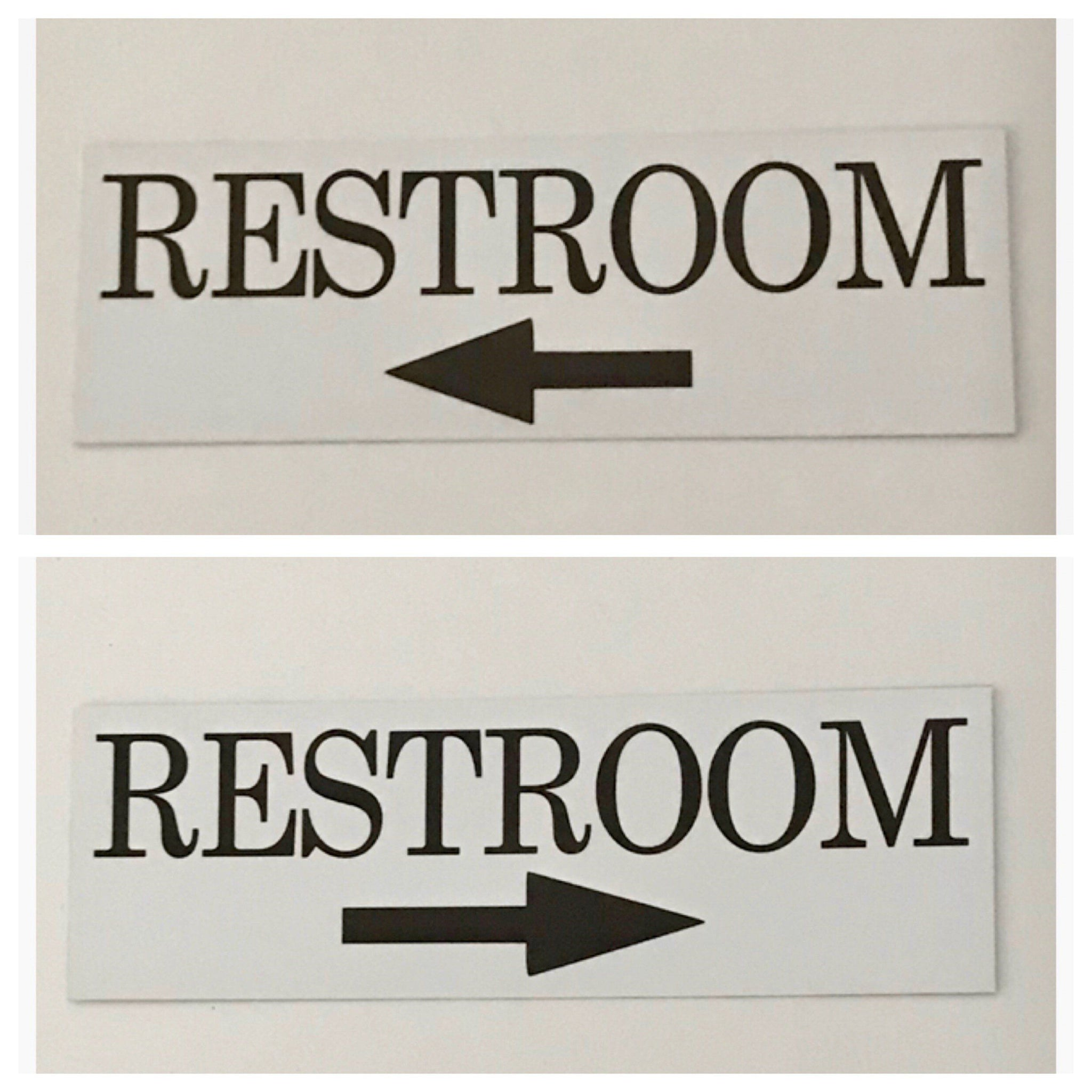 Restroom Toilet with Arrow Sign Plaque or Hanging - The Renmy Store
