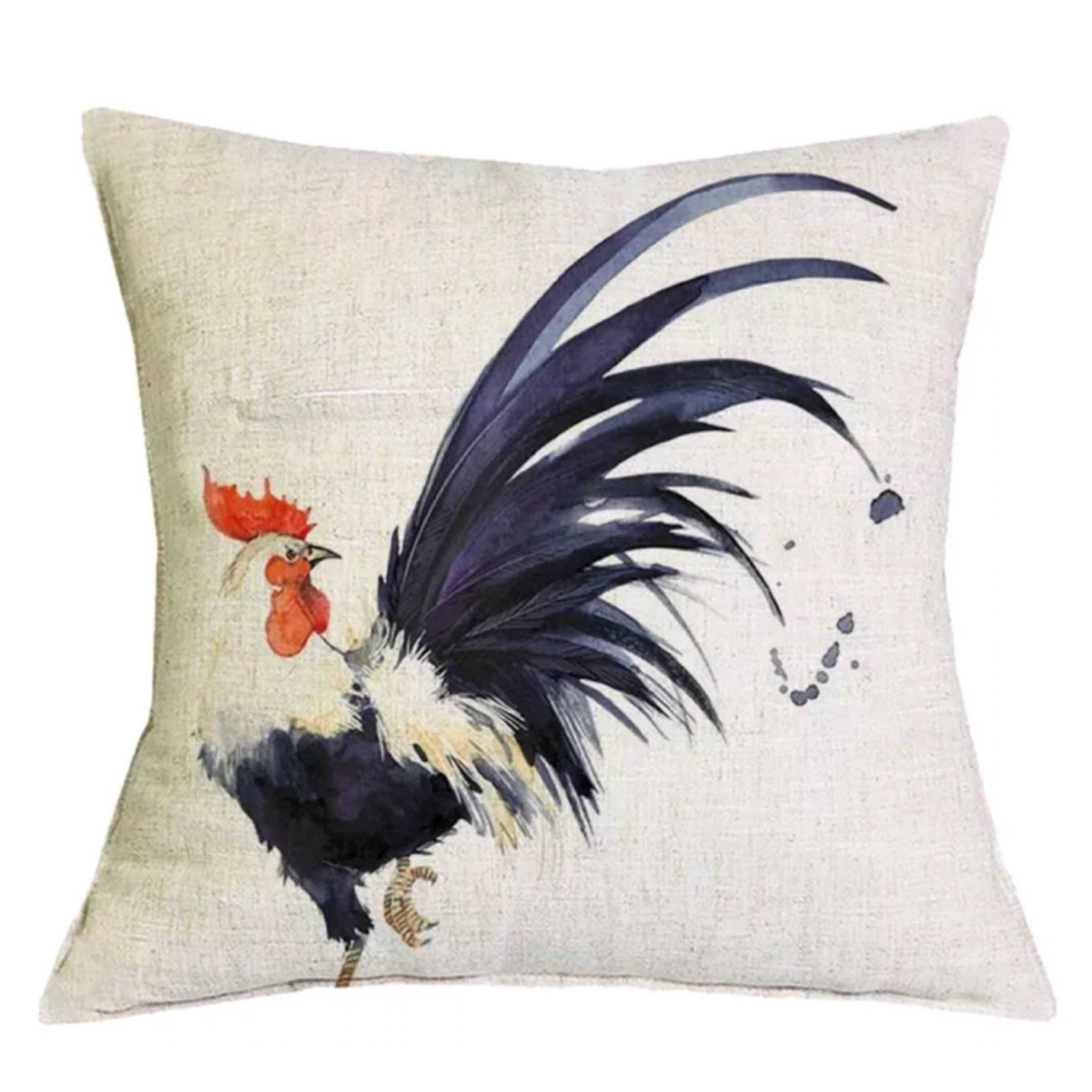 Cushion Pillow Rooster with Big Tail