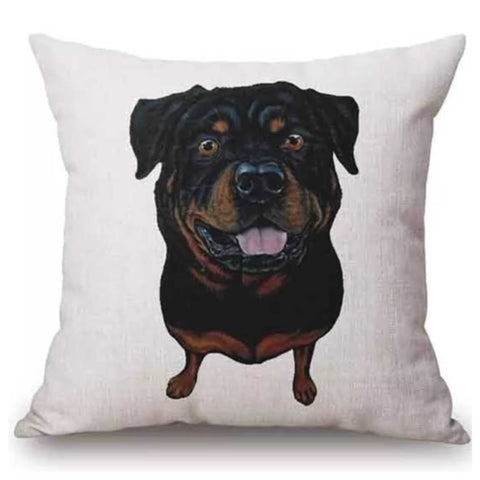 Cushion Pillow Dog Rotti Rottweiler