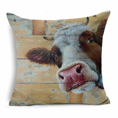 Cushion Pillow Cow Rustic Farmhouse Cushions, Decorative Pillows The Renmy Store