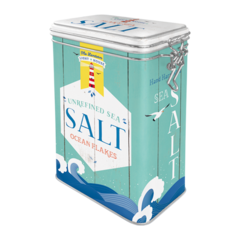 Box Tin Container Salt Vintage Retro | The Renmy Store