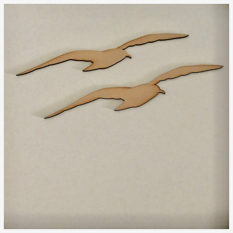 Seagull Bird Seagulls Set of 2 DIY Raw MDF Timber - The Renmy Store