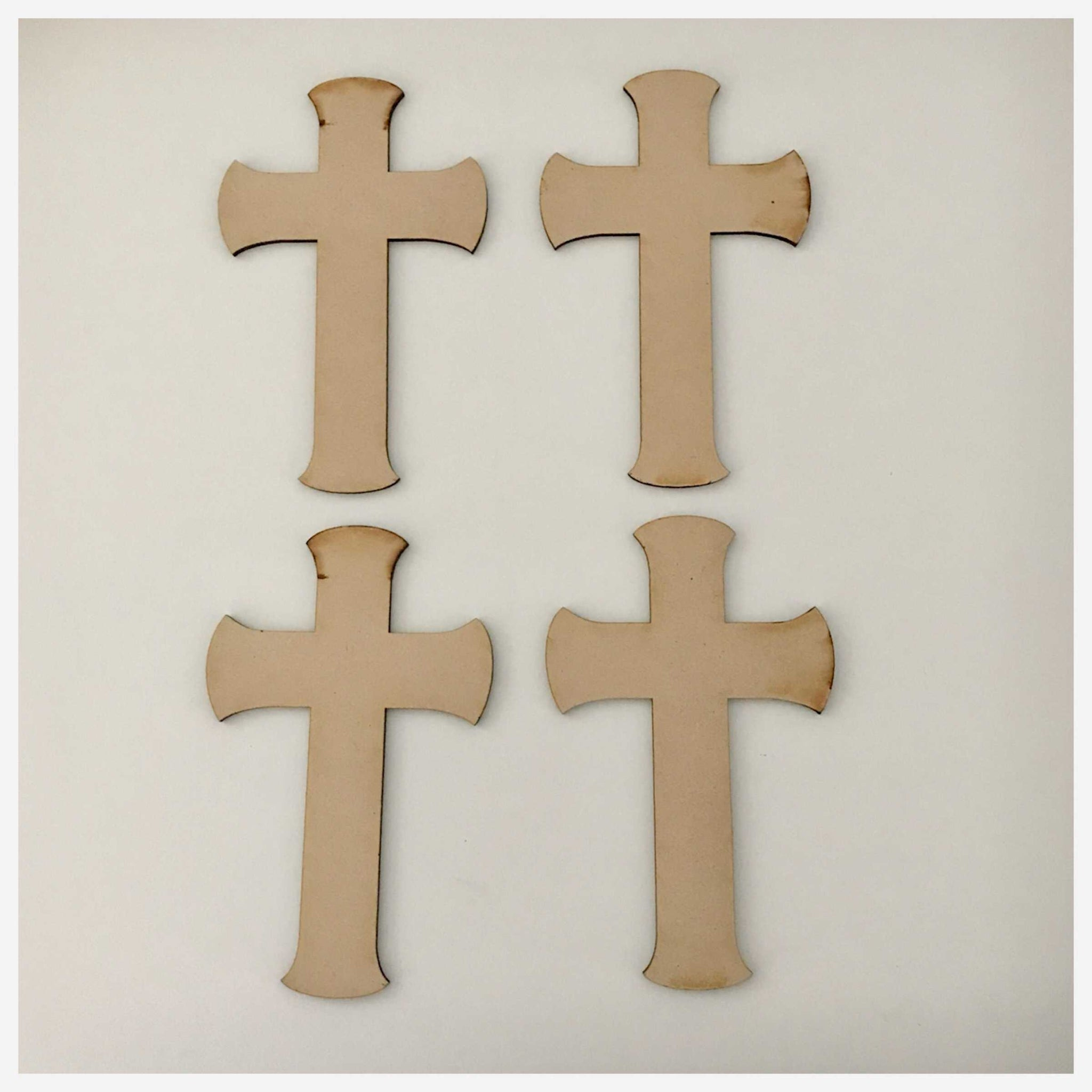 Cross MDF Dome Small Shape DIY Raw Cut Out Art Religious Craft Decor