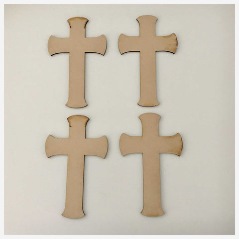 Cross MDF Dome Small Shape DIY Raw Cut Out Art Religious Craft Decor - The Renmy Store