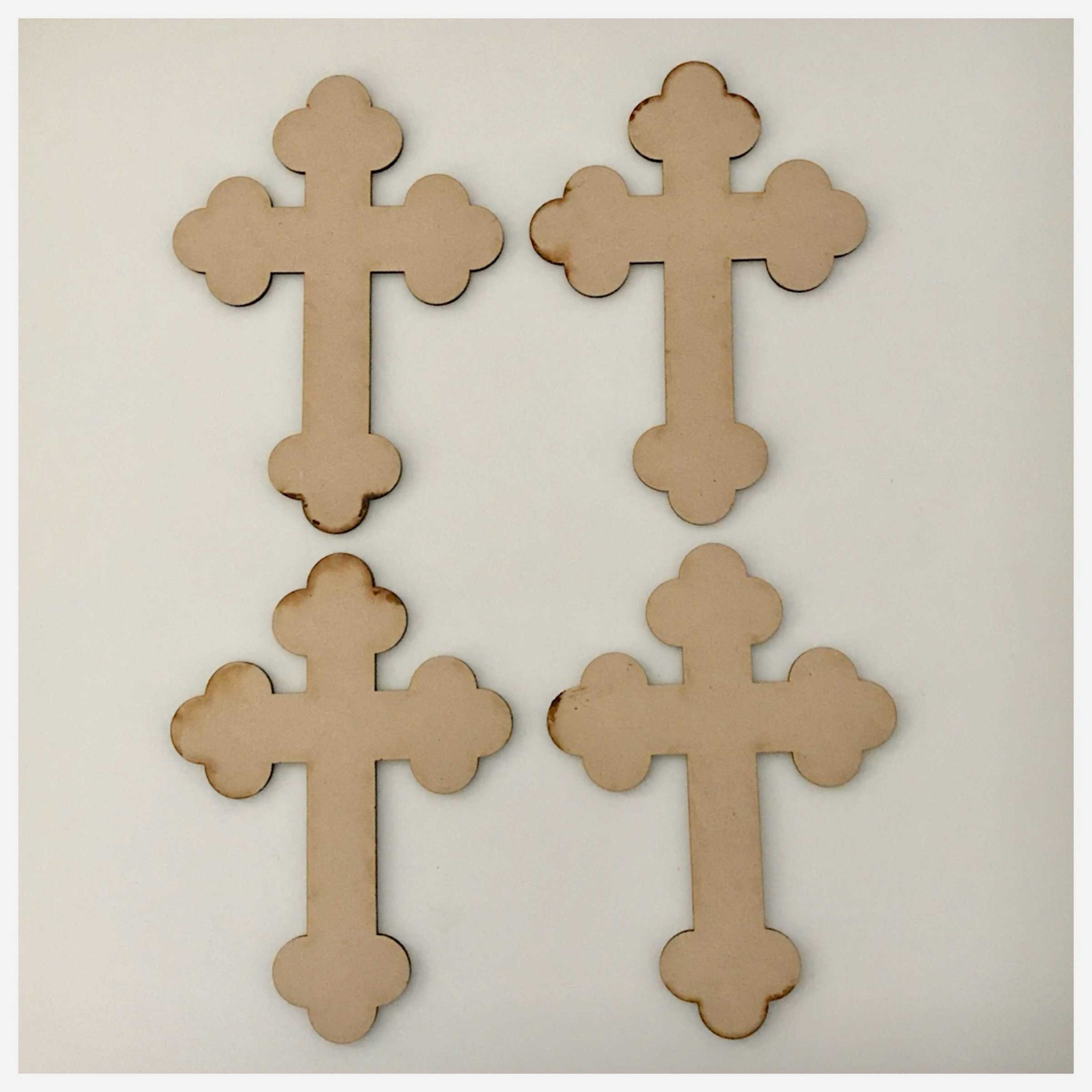 Cross MDF Vintage Small Shape DIY Raw Cut Out Art Religious Craft Decor Other Home Décor The Renmy Store