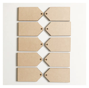 Tag Tags Set of 10 Raw MDF Wooden DIY Craft - The Renmy Store