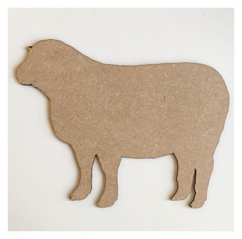 Sheep MDF Wooden Shape Farm DIY Cut Out Art Craft Decor