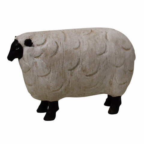 Sheep Lamb Ewe White & Black Ornament - The Renmy Store