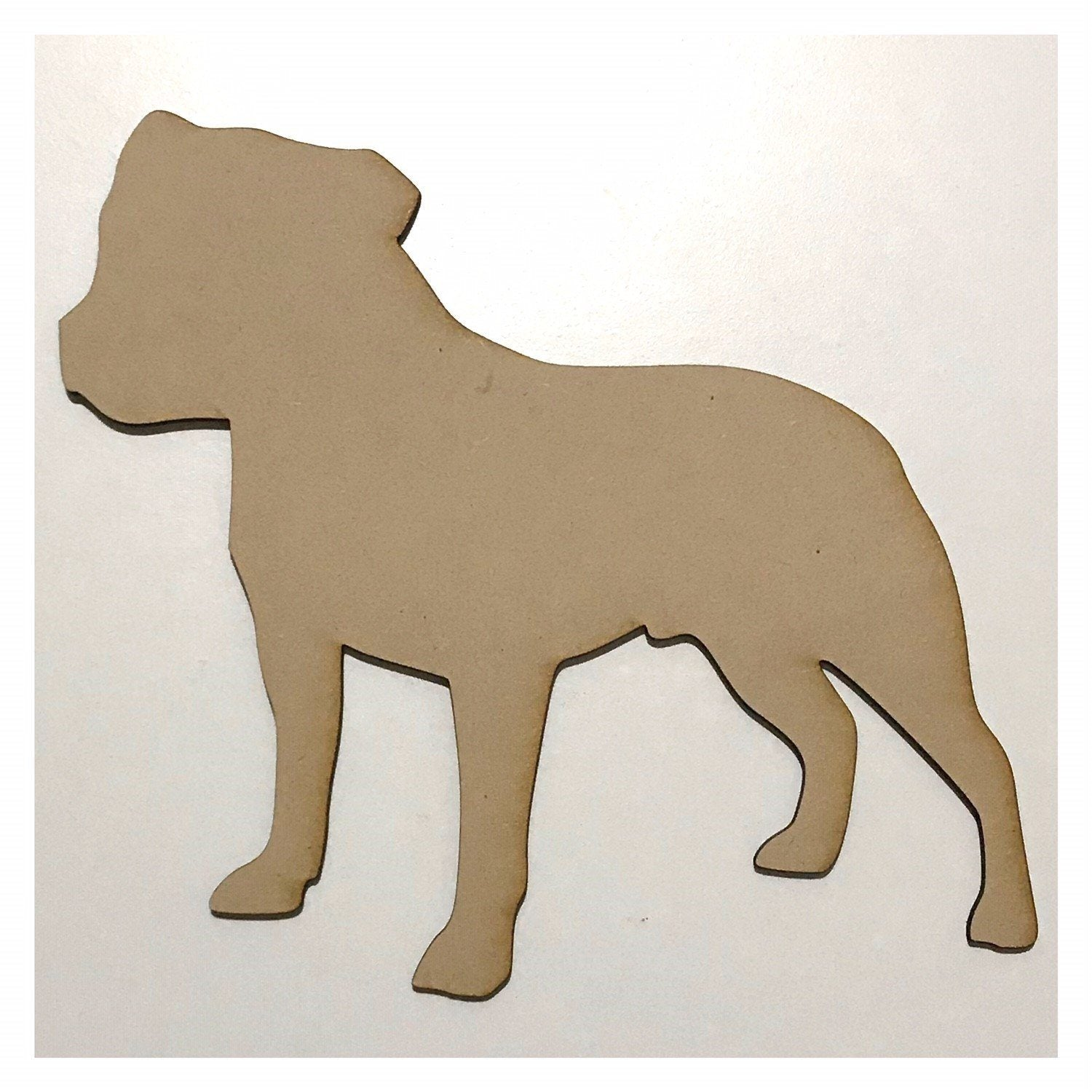 Staffordshire Bull Terrier Staffy Dog DIY Raw MDF Timber - The Renmy Store