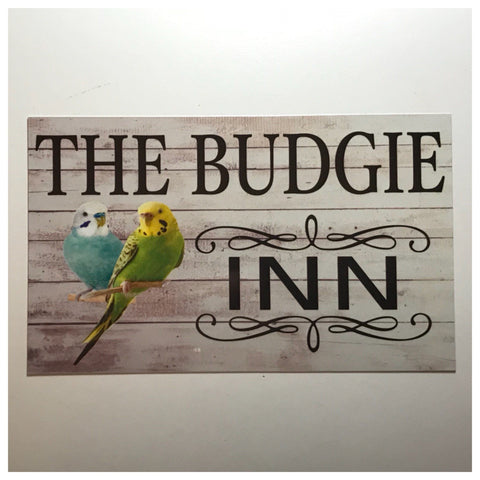 The Budgie Bird Inn Sign Wall Plaque or Hanging - The Renmy Store
