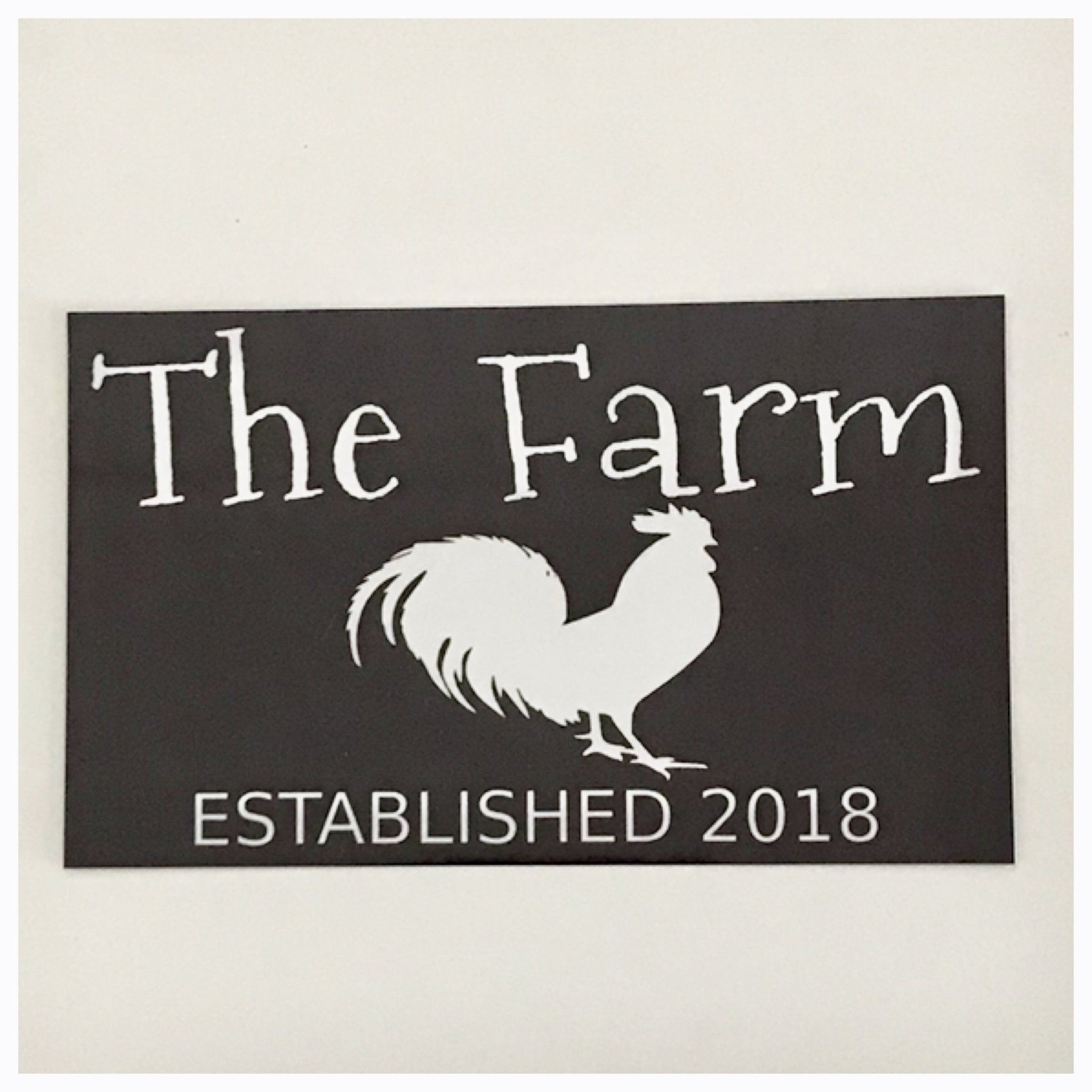 The Farm Est. Custom Year Sign