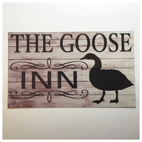 The Goose Geese Inn Sign Wall Plaque or Hanging - The Renmy Store