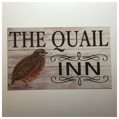 The Quail Bird Inn Sign Wall Plaque or Hanging - The Renmy Store