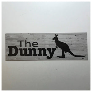 The Dunny Kangaroo Toilet Outback Sign Door Rustic Wall Plaque or Hanging - The Renmy Store