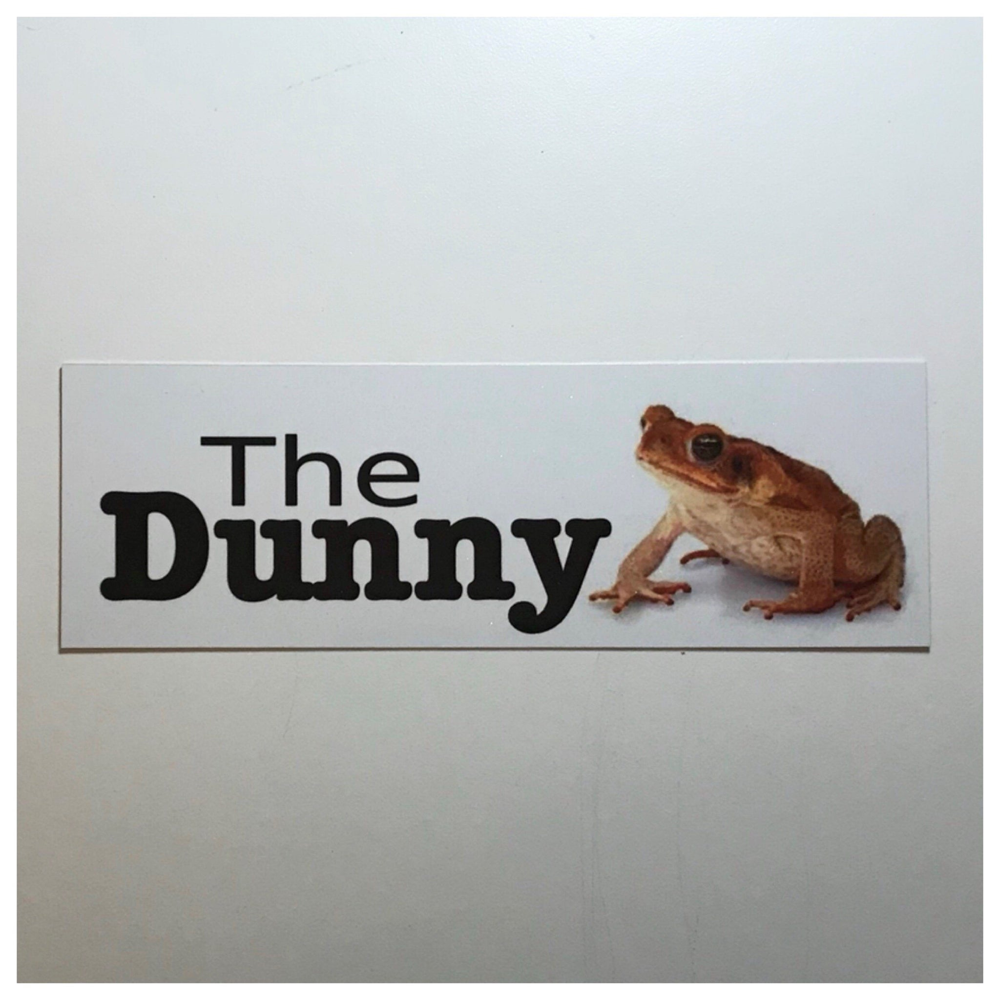 The Dunny Cane Toad Toilet Outback Sign Door - The Renmy Store