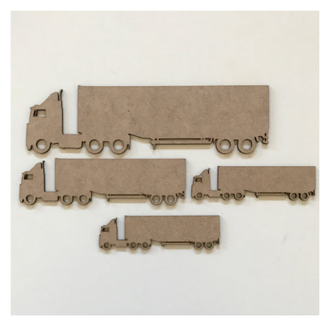 Truck Set of 4 Timber MDF Raw DIY