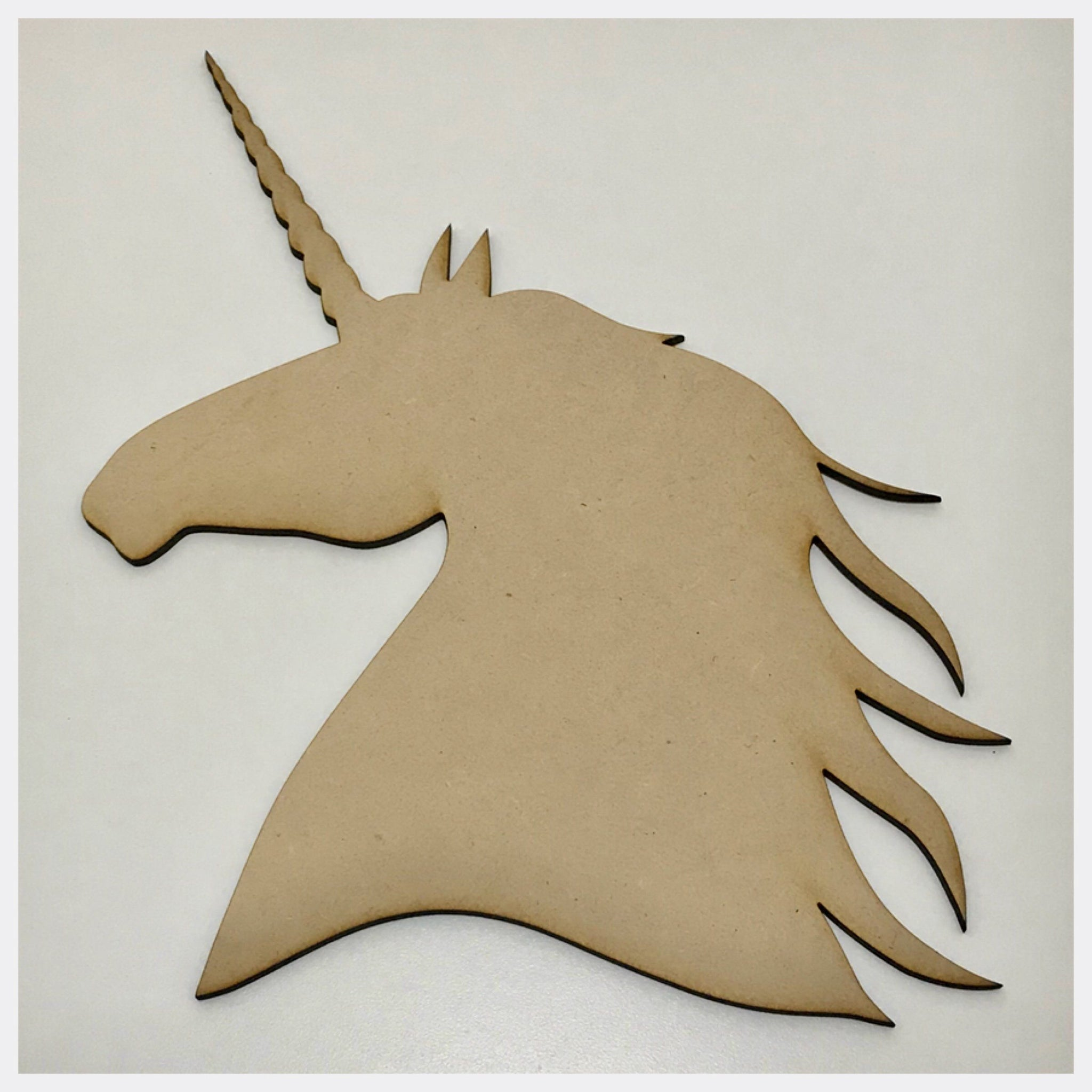 Unicorn Horse Head MDF Shape DIY Raw Cut Out Art Craft Decor