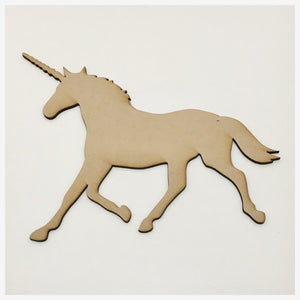 Unicorn Horse MDF Shape DIY Raw Cut Out Art Craft Decor