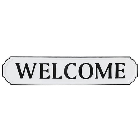 Welcome Metal Wall Sign