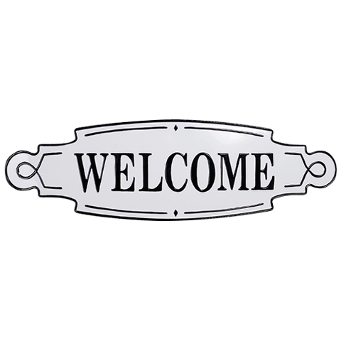 Welcome Metal Wall Vintage Sign